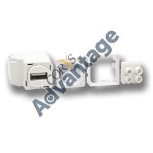 USB CHARGER MODULE WHITE 642MUSB