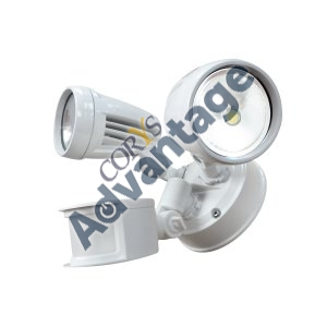 SPOTLIGHT LED ECO PIR 2X8W 220-240V IP44 WHITE LHT0250