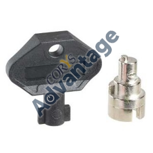 (I) *POA*  LOCK FOR ENCL DOOR MALE 7MM TRIANGLE SQ 3MM DBL