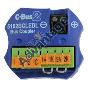(I) COUPLER BUS 2CH W/ REMOTE LED FACILITY C-BUS