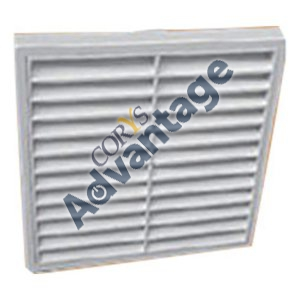 GRILLE FIXED LOUVRE 100MM WHITE DCT0025