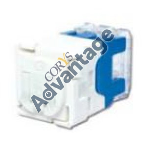 0000580897 (I) SOCKET MODULAR CAT6 568A RJ45 & LOCK TABS  WHITE
