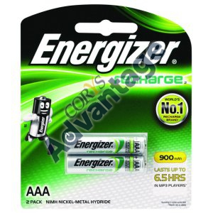 BATTERY RECHARGEABLE NI-MH AAA NH12BP2T ENERGIZER 2/PK