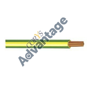 6112.1 CABLE CONDUIT WIRE 6.0MM V75 GRN/YLW (100M DRUM) OLX